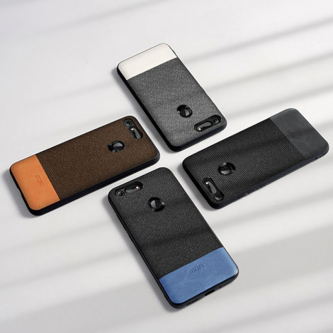 Mofi Classic Cloth PU Leather Art Splice Slim Cover Case For Huawei Honor V20