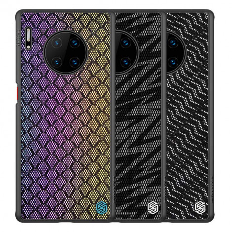 NILLKIN PU Leather PC Back Shell TPU Frame Twinkle Case For HUAWEI Mate 30 Pro