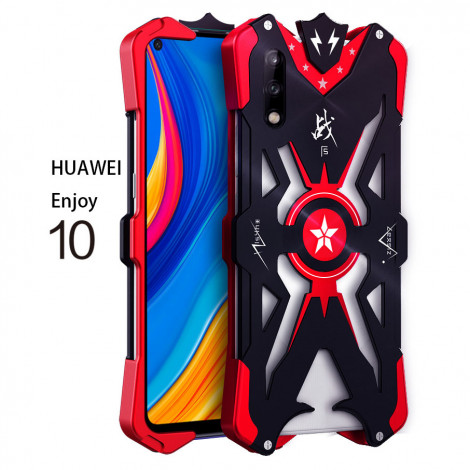 SIMON Upgraded Version Aluminum Metal Frame Bumper Back Cover Case For HUAWEI Enjoy 10
