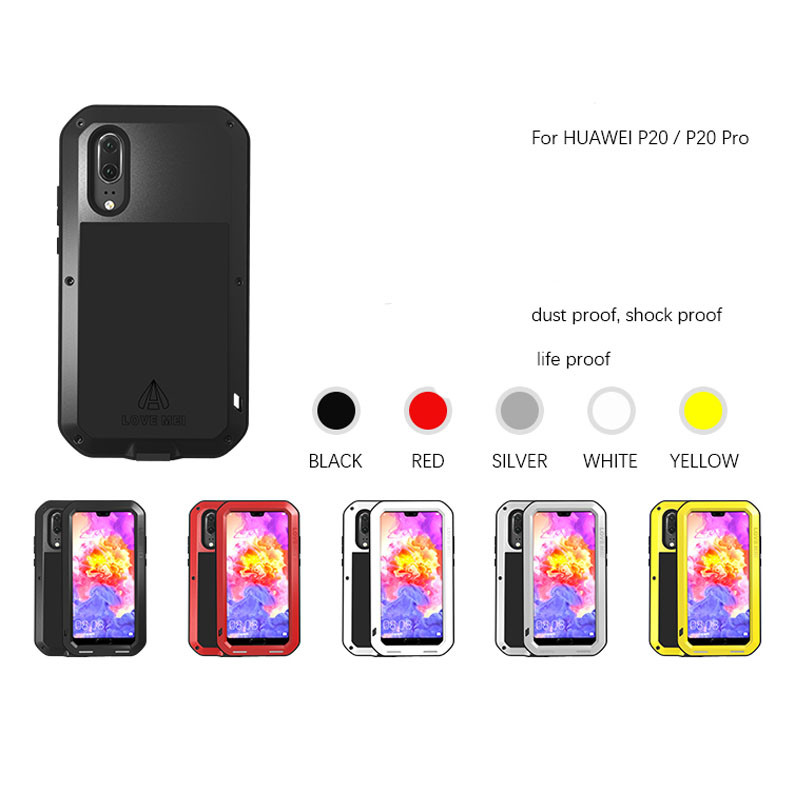 new style 01ff3 b3551 LoveMei Shock Proof / Dirt Proof/Water Proof Powerful Protective Case For  Huawei P20 Pro / P20