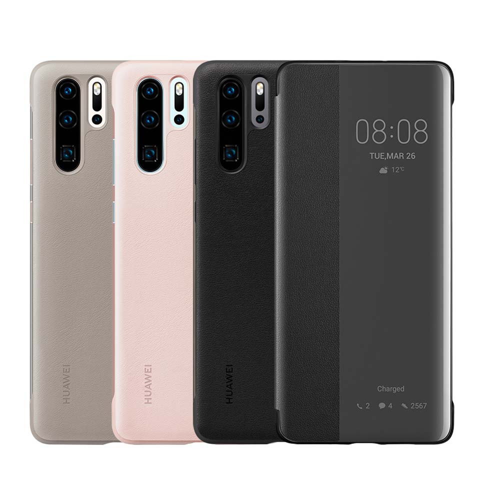 Original Huawei P30 Pro Smart View Flip Cover Case