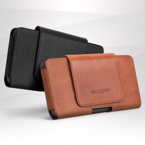 6inches Men Buiness Genuine Leather Waist Bag Mobile Phone Case For Huawei Mate 10 / Mate 9 Pro