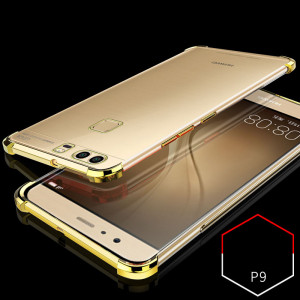 Air Bag Drop-proof Silicone Ultra Thin Transparent Back Cover Case For Huawei P9 Plus/P9