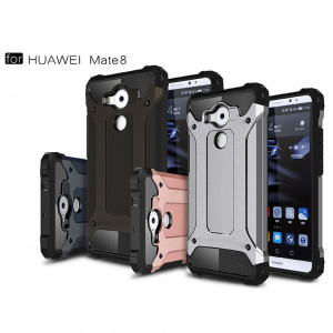 Armor Pattern Hybrid Hard PC+Shockproof Soft TPU Protective Back Cover Case For Huawei 8