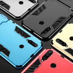 Armor Style Silicone Protective Case With Stand Function For Huawei Nova 4e