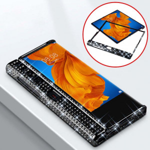 Bling Gemstone Crystal Style Folding Border Protective Case For HUAWEI Mate XS