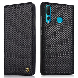 Business Style Genuine Leather Flip Stand Protective Case For HUAWEI Nova 4