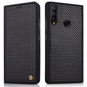 Business Style Genuine Leather Flip Stand Protective Case For HUAWEI Nova 4e