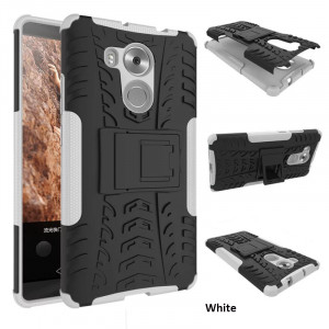 Cool Tire Pattern PC + TPU Shockproof Kickstand Phone Case For Huawei 8