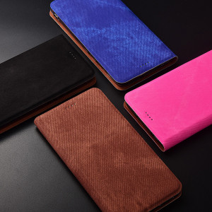 Denim Texture Classic Flip PU Leather Protective Case For Huawei Enjoy 9 Plus/Enjoy Max/Enjoy 9
