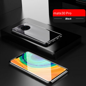 R-just Double Sided Toughened Glass Magnetic Adsorption Metal Frame Back Cover For Huawei Mate 30 Pro/Mate 30