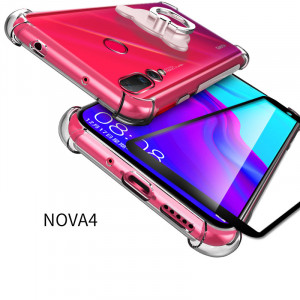 Full Protection Air Bag Drop-proof Silicone Transparent Soft Back Cover Case For Huawei Nova 4