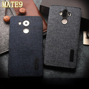 Fabric Grain Series Stylish Soft Silicone Ultra Thin Phone Cover Case For Huawei Mate 8 / Mate 9 / Mate 9 Pro