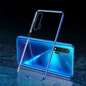High Elastic Transparent TPU Plating Frame Protective Back Case For Huawei Nova 6