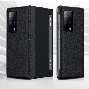 Litchi Texture Smart View Flip Cover For HUAWEI Mate X2