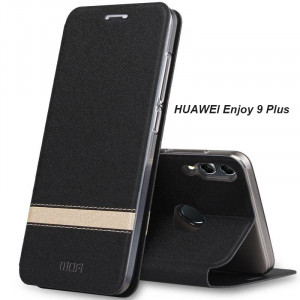 Mofi Contrasting Flip Leather Protective Case With Stand Function For Huawei Enjoy 9 Plus/Enjoy 9