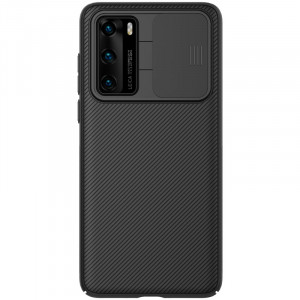 NILLKIN CamShield Classic Texture PC Back Cover Case For HUAWEI P40