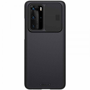 NILLKIN CamShield Classic Texture PC Back Cover Case For HUAWEI P40 Pro
