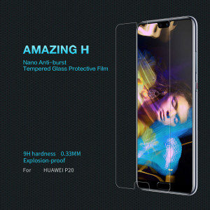 NILLKIN High Quality Amazing H Anti-Explosion Tempered Glass Screen Protector For Huawei P20