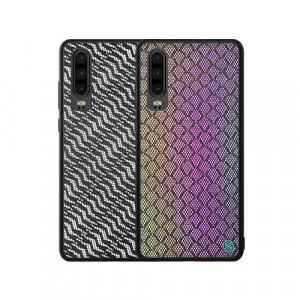 NILLKIN PU Leather PC Back Shell TPU Frame Twinkle Case For HUAWEI P30