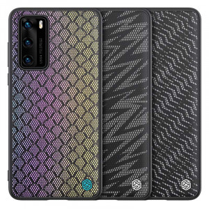 NILLKIN PU Leather PC Back Shell TPU Frame Twinkle Case For HUAWEI P40