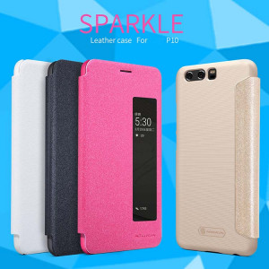 NILLKIN Sparkle Series Flip Leather Cover For HUAWEI P10/P10 Plus