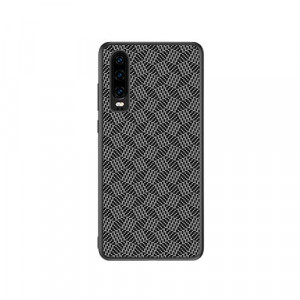 NILLKIN Synthetic Fiber PC Shell TPU Frame Plaid Case For HUAWEI P30