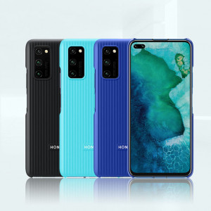 Original HUAWEI Honor V30 Pro Vertical Stripes PC Protective Back Cover Case