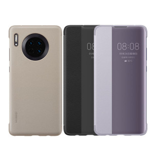 Original HUAWEI Mate 30 Clear Window Smart View Flip Protective Cover