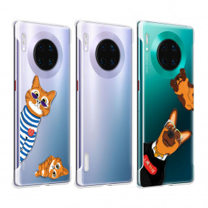 Original HUAWEI Mate 30 Pro Lovely Cartoon Soft Clear Back Cover Case