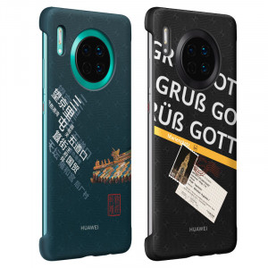 Original Huawei Mate 30 Travel Theme Ultra Thin Back Cover Case