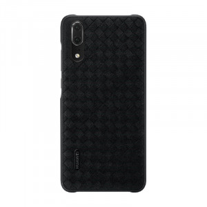 Original Huawei P20 Genuine Leather Braided Protective Back Cover Case