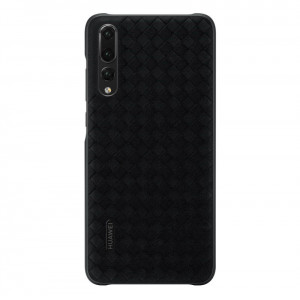Original Huawei P20 Pro Genuine Leather Braided Protective Back Cover Case