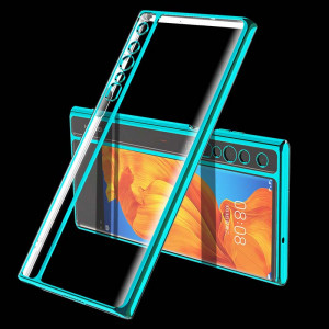 Plating Frame Transparent TPU Protective Back Case For HUAWEI Mate XS