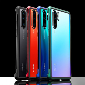 R-Just Frameless Magnetic Adsorption Transparent Glass Back Cover Phone Case For HUAWEI P30/P30 Pro