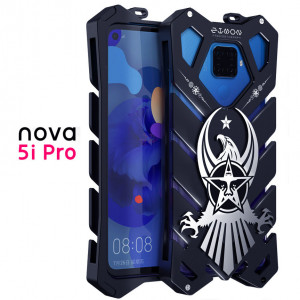 SIMON Cool Eagle Aluminum Metal Frame Bumper Back Cover Case For HUAWEI Nova 5i Pro