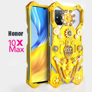 Simon Gothic Steampunk Mechanical Gear Metal Protective Case For HUAWEI Honor 10X Max