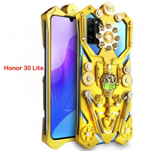 Simon Gothic Steampunk Mechanical Gear Metal Protective Case For HUAWEI Honor 30 Lite