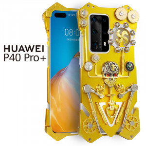 Simon Gothic Steampunk Mechanical Gear Metal Protective Case For HUAWEI P40 Pro+