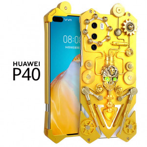 Simon Gothic Steampunk Mechanical Gear Metal Protective Case For HUAWEI P40 Pro/P40