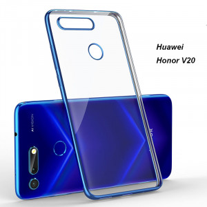 Transparent TPU Plating Frame Protective Back Case For Huawei Honor V20