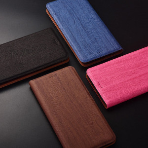 Tree Texture Classic Flip PU Leather Protective Case For Huawei Enjoy 9S/9E/9 Plus/Enjoy Max/Enjoy 9