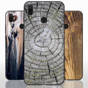 Vintage Wood Grain Series Soft Silicone Protective Case For Huawei Enjoy 9 Plus