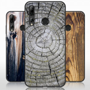 Vintage Wood Grain Series Soft Silicone Protective Case For Huawei Enjoy 9S