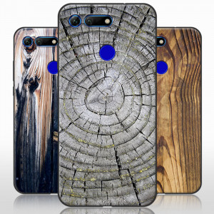 Vintage Wood Grain Series Soft Silicone Protective Case For Huawei Honor V20