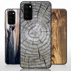 Vintage Wood Grain Series Soft Silicone Protective Case For HUAWEI Honor V30 Pro/V30