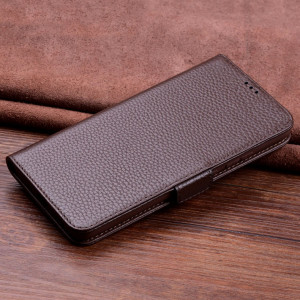 Wallet Style Genuine Leather Flip Stand Protective Case For HUAWEI Nova 4