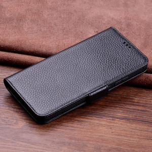 Wallet Style Genuine Leather Flip Stand Protective Case For HUAWEI Nova 4e