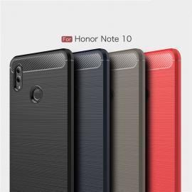Carbon Fiber Brushed Grain Soft Silicone Full Surround Protective Case For Huawei Honor Note 10