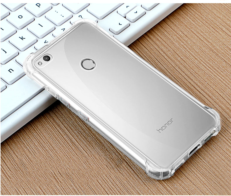 san francisco 72709 bfa34 Ultra Thin Transparent Soft TPU Anti-drop Protective Back Case With Ring  Holder For Huawei Honor 8 Lite